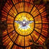 Throne Bernini Holy Spirit Dove, Saint Peter`s Basilica In Rome Stock Photography