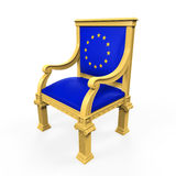Throne Chair of European Union Stock Image