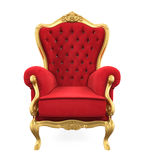 Throne Chair Isolated. On white background. 3D render Royalty Free Stock Photo