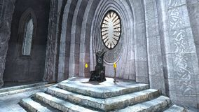 Throne. 3D CG rendering of the throne stock illustration