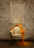 Throne in flames Stock Photography