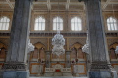 Throne at Grand Chowmahalla Palace Royalty Free Stock Images