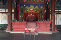Throne in Gyeongbokgung Palace Korea Stock Photo