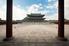 Throne Hall Courtyard Gyeongbokgung Palace Stock Image