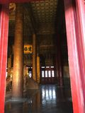 The Forbidden City. The throne in the hall Stock Image