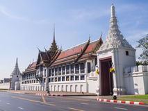 Throne hall in Grand Royal Palace in Bangkok Stock Photos
