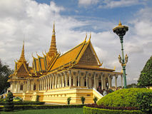 Throne Hall - Royal Palace - Phnom Penh Stock Photos