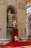 Throne inside Basilica of St. Peter, Vatican. City Stock Photography
