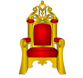 The Throne for king, red and soft , Royalty Free Stock Photos