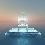 Throne of light over water Royalty Free Stock Photo