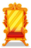 Throne made of gold. Illustration royalty free illustration