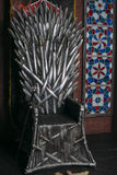 Throne made of swords Stock Photo