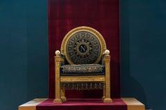 Throne of Napoleon stock photography