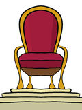Throne on a pedestal Royalty Free Stock Photo