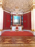 The throne of Peter the Great royalty free stock photo