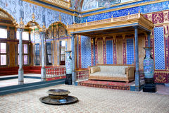 Throne room inside Harem section of Topkapi Palace, Istanbul Royalty Free Stock Photos