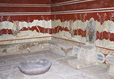 Throne Room at Knossos Stock Photos