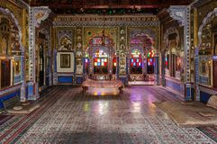Throne room and Royal court of Marwar King Stock Photography