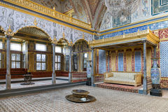 Throne Room At Topkapi Palace Harem Section, Istanbul, Turkey Royalty Free Stock Photos