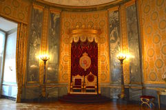 Throne in Royal Palace Stockbild