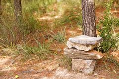 Throne with stones like game of thrones background fine art in high quality prints products 50,6 Megapixels stock photography