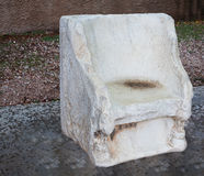 The throne of white marble. Royalty Free Stock Photography
