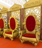 Thrones. Wisemen Caspar Melchior and Balthasar thrones Stock Photo