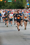 Throng Of Runners Run In July 4 Atlanta Road Race Stock Photography