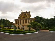 Thronhalle in Phnom Penh Stockbilder