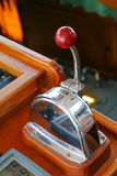 Throttle. Lever on yacht Stock Photography