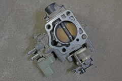 Throttle body. Removed from Japan car Royalty Free Stock Photography