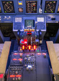 Throttle and control panel - Flight Simulator Stock Image