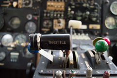 Throttle lever Royalty Free Stock Photography