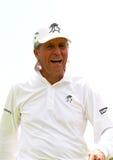 Throu de risa de Gary Player del presentador y del gran maestro del torneo Imagen de archivo