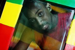 Through The Window - Reggae Colors Royalty Free Stock Photography