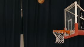 Throw balls in basketball basket. 4k stock footage
