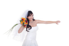 Throw this bridal bouquet away Stock Image