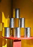 Throw at Cans Royalty Free Stock Photo