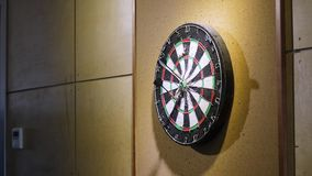 Throw the dart at the dart Board. Concept of success. Playing Darts stock footage
