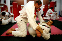 Throw do Jujitsu Foto de Stock