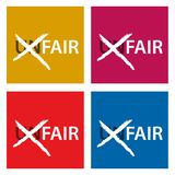 Throw letters u and n from unfair, unfair to fair. EPS file available. see more images related royalty free illustration