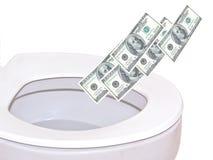 Throw money. Stock Photography