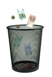 Throw money away Stock Images