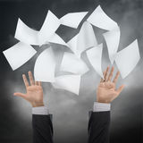 Throw paper Stock Photography
