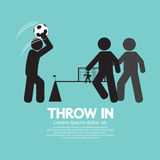 Throw in Soccer Or Football Symbol Royalty Free Stock Photography
