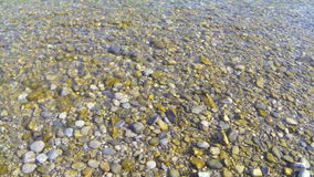 Throw stones stock footage