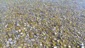 Throw stones stock video footage