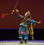"Throw the sword--Peking opera ""Little Worriors of Yeuh's family"" Royalty Free Stock Image"