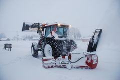 thrower χιονιού Στοκ Εικόνες