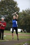 thrower för idrottsman nenbrinkertpia Arkivfoton
